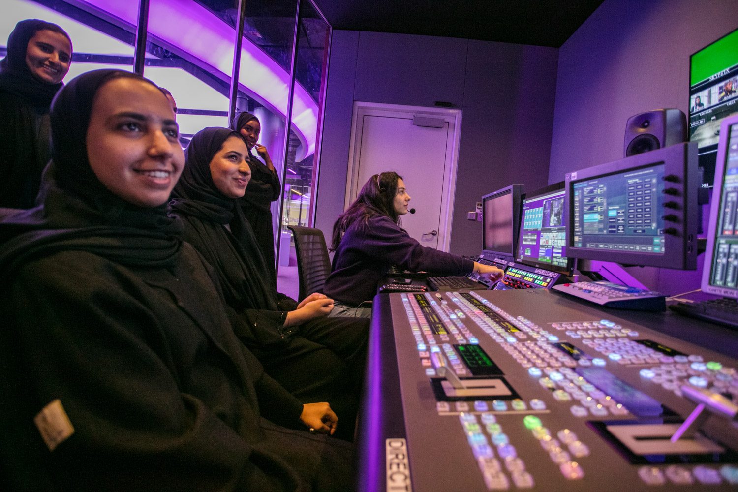 The newsroom includes its own control room and an edit suite to produce graphics and render audio, as well as the ability to produce live reports across multiple platforms.